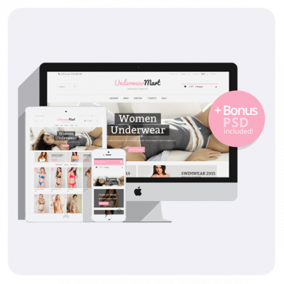 Underwear Prestashop 1.6 Theme