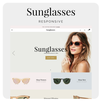 Sunglasses Prestashop 1.6 Template