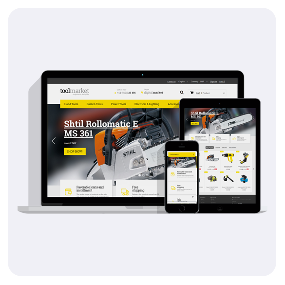 Tools Market Prestashop 1.6 Responsive Theme