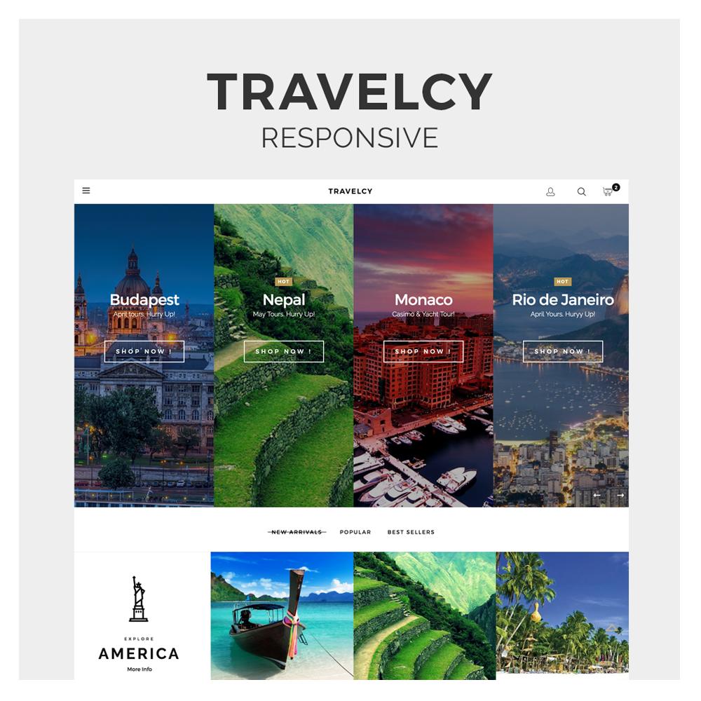 Travelcy Responsive Prestashop 1.6 Template