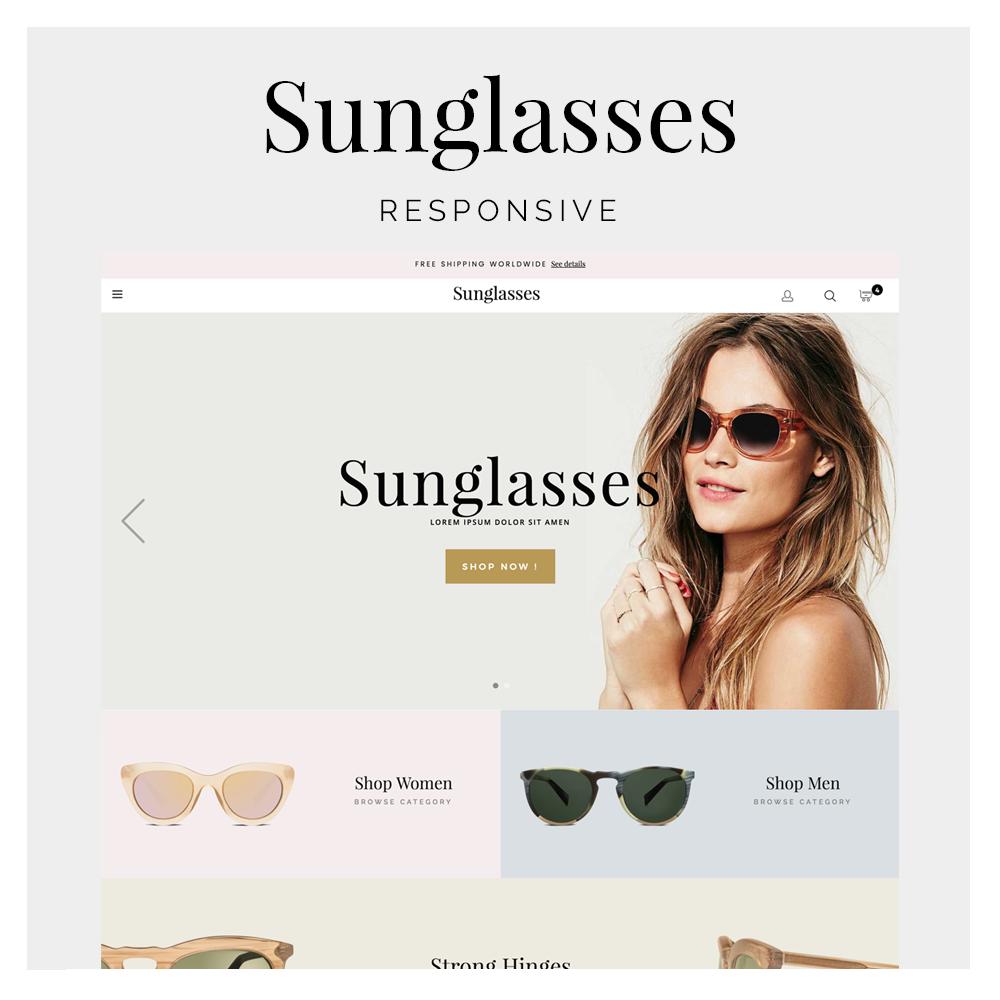 Sunglasses Prestashop 1.6 Responsive Template