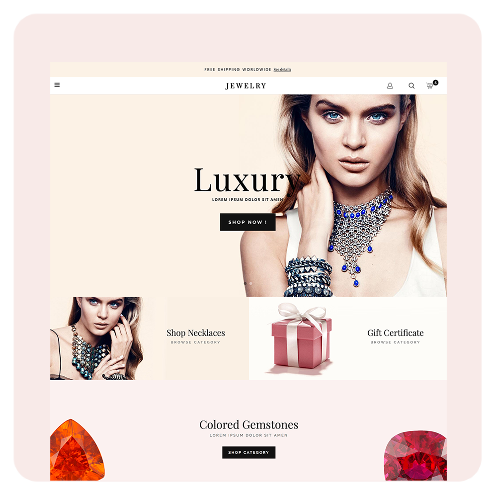 Luxury Jewelry Prestashop 1.6 Responsive Template