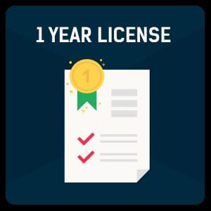 1 Year License