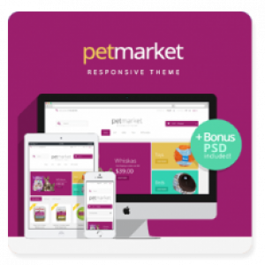 Prestashop Pet Market responsive theme