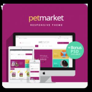 Prestashop Pet Market responsive theme